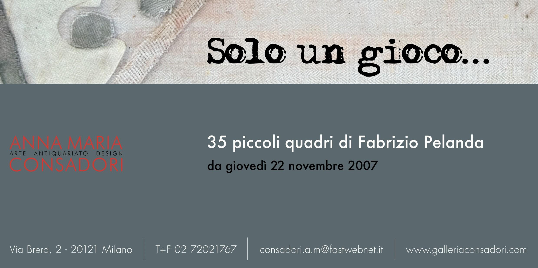 Solo un gioco... 35 piccoli quadri di Fabrizio Pelanda