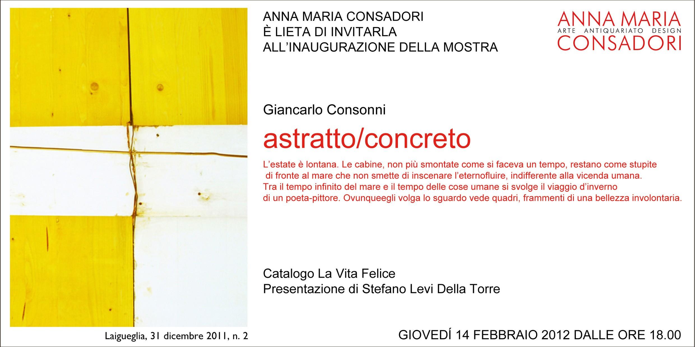 Giancarlo Consonni - astratto / concreto | Galleria Consadori
