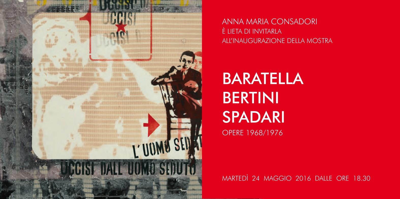 Baraeltla Bertini Spadari opere 1968-1976