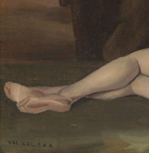 Ugo Virgilio Da Celada, Nudo, 1948, Olio su tela (reintelato, es. VIII/X), cm 35x50