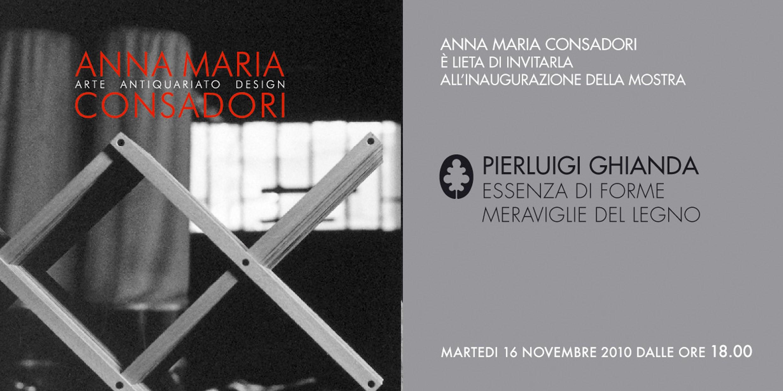 Pierluigi Ghianda, Essenza di forme - Meraviglie del legno | Galleria Consadori 2010