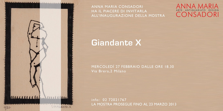 Giandante X alla Galleria Consadori, Febbraio 2013