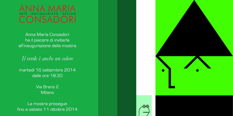 Il verde è anche un colore | Galleria Consadori 2014