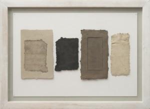 Nanni Valentini, Trasparenza 21B, opera su carta con inserti in terracotta, cm 43x63,5 - © Tancredi Mangano