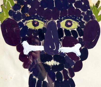 David Hicks, Study, 1963, Collage e tempera, 70x50 cm