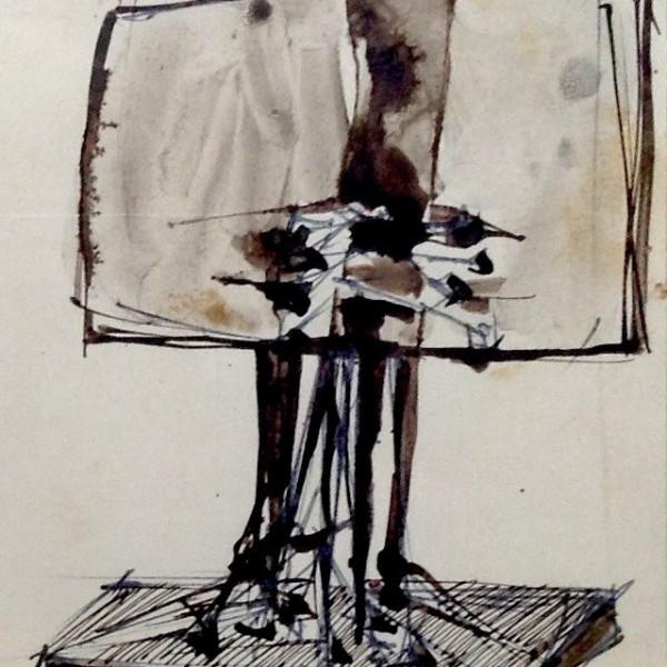 Giò Pomodoro, Disegno per scultura