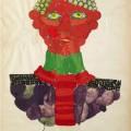 David Hicks, Study, 1963, collage e tempera, cm 70×50