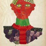 David Hicks, Study, 1963, collage e tempera, cm 70x50