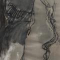 Nanni Valentini, Momento, 1985, Tecnica mista su carta, cm 100×70
