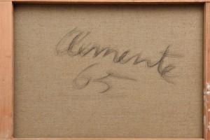 Jack Clemente, Senza titolo, 1965, cm 97x130 (retro)