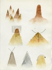 Tullio Pericoli, Taccuino10, 1981, 18x13,2 Opera su carta