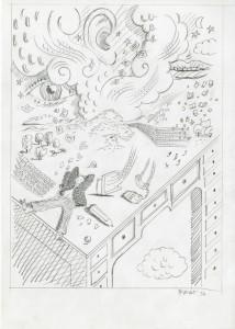 Tullio Pericoli, Senza Titolo, 1994, 29,5x21, Opera su carta