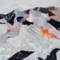 Tullio Pericoli, Scavi, 2011, cm 40×40, olio su tela