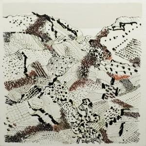 Tullio Pericoli, Venerosse, 2016, cm 60x60, olio su tela