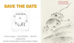 Save the date   Scritture e figure TULLIO PERICOLI 1965-2017
