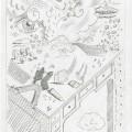 Tullio Pericoli, Luoghi ventosi, 1994, cm 29,5×21, matita su carta