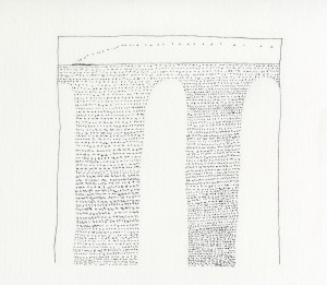 Tullio Pericoli, Treno, 2005, cm 36x52, china su carta