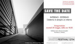 """SAVE THE DATE   """"Interno-Esterno. L'esterno è sempre un interno""""   30 maggio-20 giugno alla Galleria Consadori"""