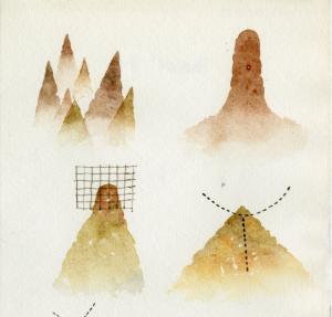 Tullio Pericoli, Taccuino, 1981, cm 18x13,2, acquerello e china su carta