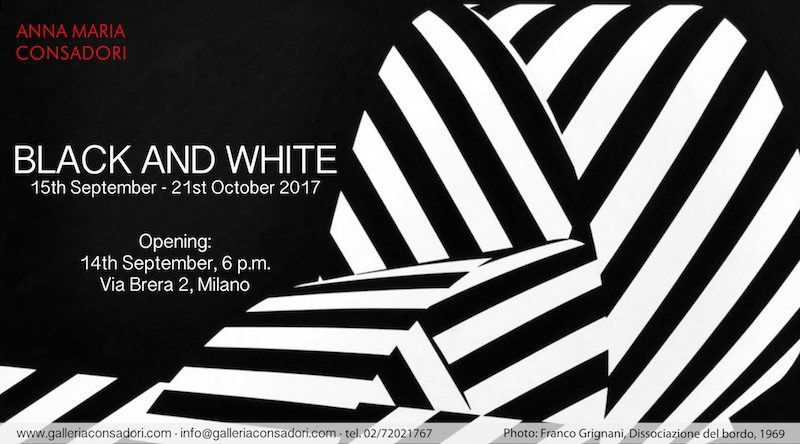 Black and White, Consadori Gallery, From 15th September 2017, Milano
