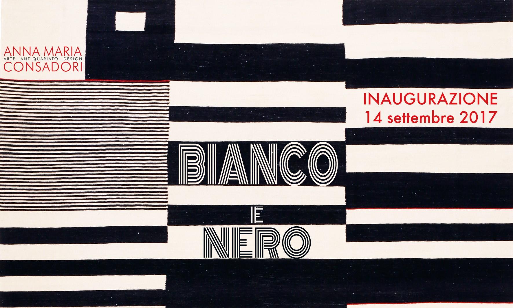 BIANCO E NERO, Galleria Consadori, 14 settembre 2017