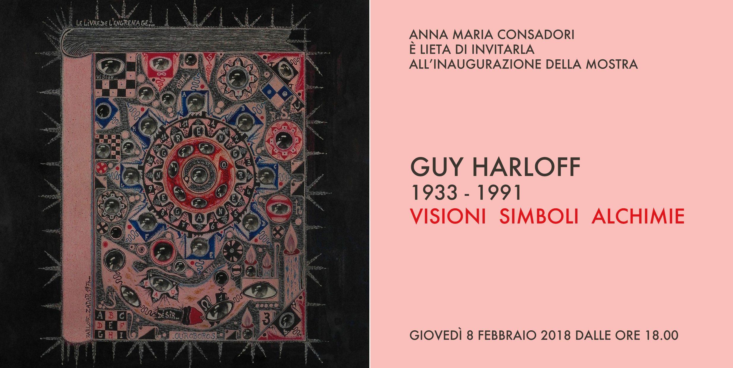 Harloff invitation - Visions symbols alchemies